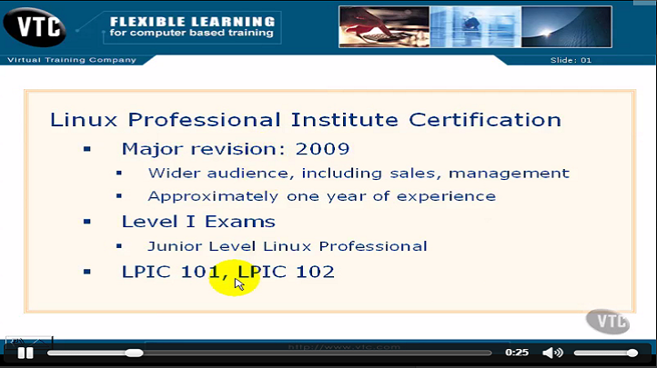 Linux Professional Institute Certification Level 1 2009, Singapore elarning online course