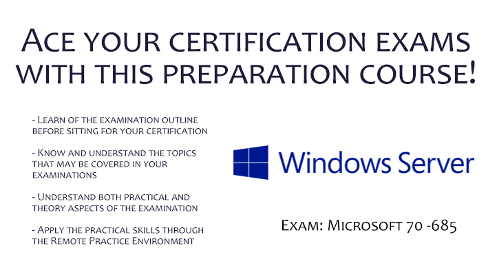 Certification at Your Fingertips - Microsoft 70 -685 Pro: Windows 7, Enterprise Desktop Support Technician, Singapore SKillsFuture elarning online course