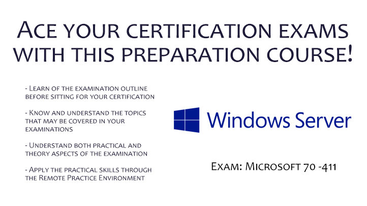 Certification at Your Fingertips - Microsoft 70-411: Administering Windows Server 2012, Singapore SKillsFuture elarning online course