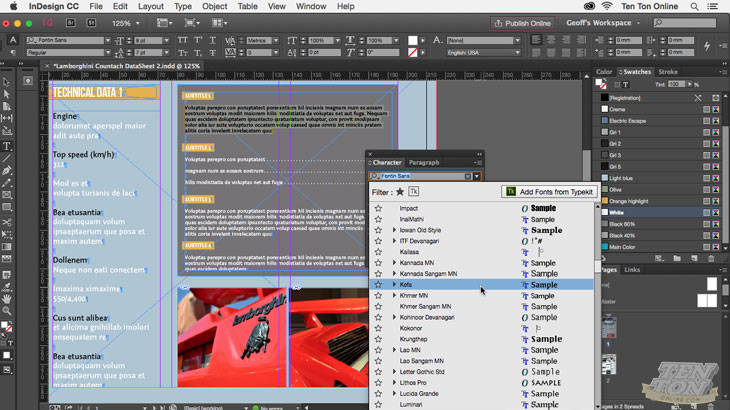 Getting Started With Adobe InDesign CC, Singapore elarning online course