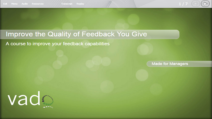 Giving Great Feedback: For Business & Project Management, Singapore SKillsFuture elarning online course
