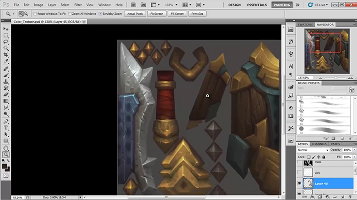 Mastering Digital Design - Master the Hand-Painted Texturing Style (Part 1), Singapore elarning online course