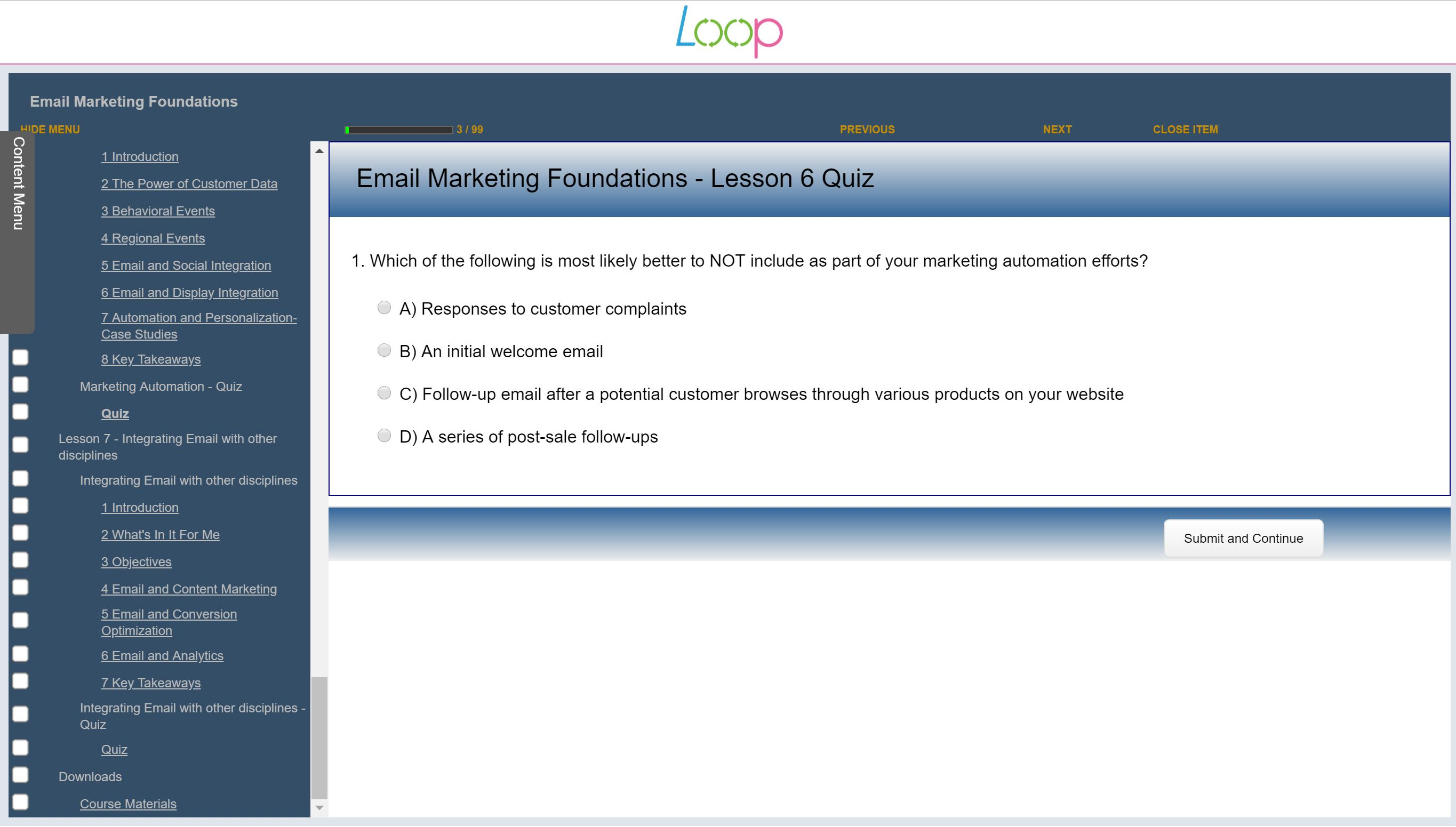 A Marketing Essential - Email Marketing Foundations, Singapore elarning online course