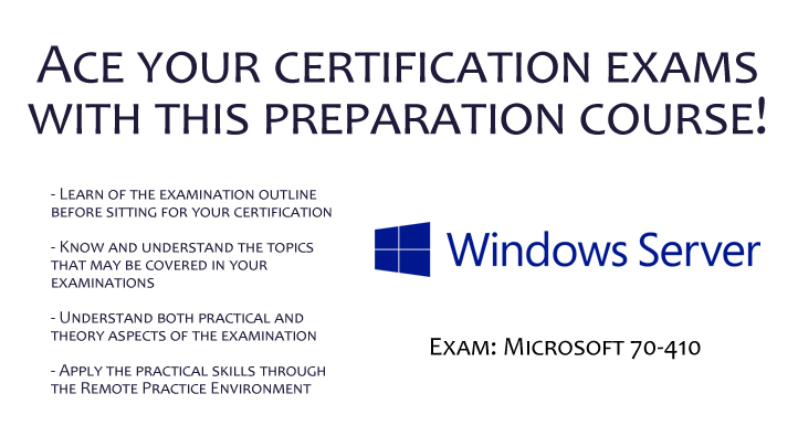 Certification at Your Fingertips - Microsoft 70-410: Installing and Configuring Windows Server 2012 , Singapore SKillsFuture elarning online course